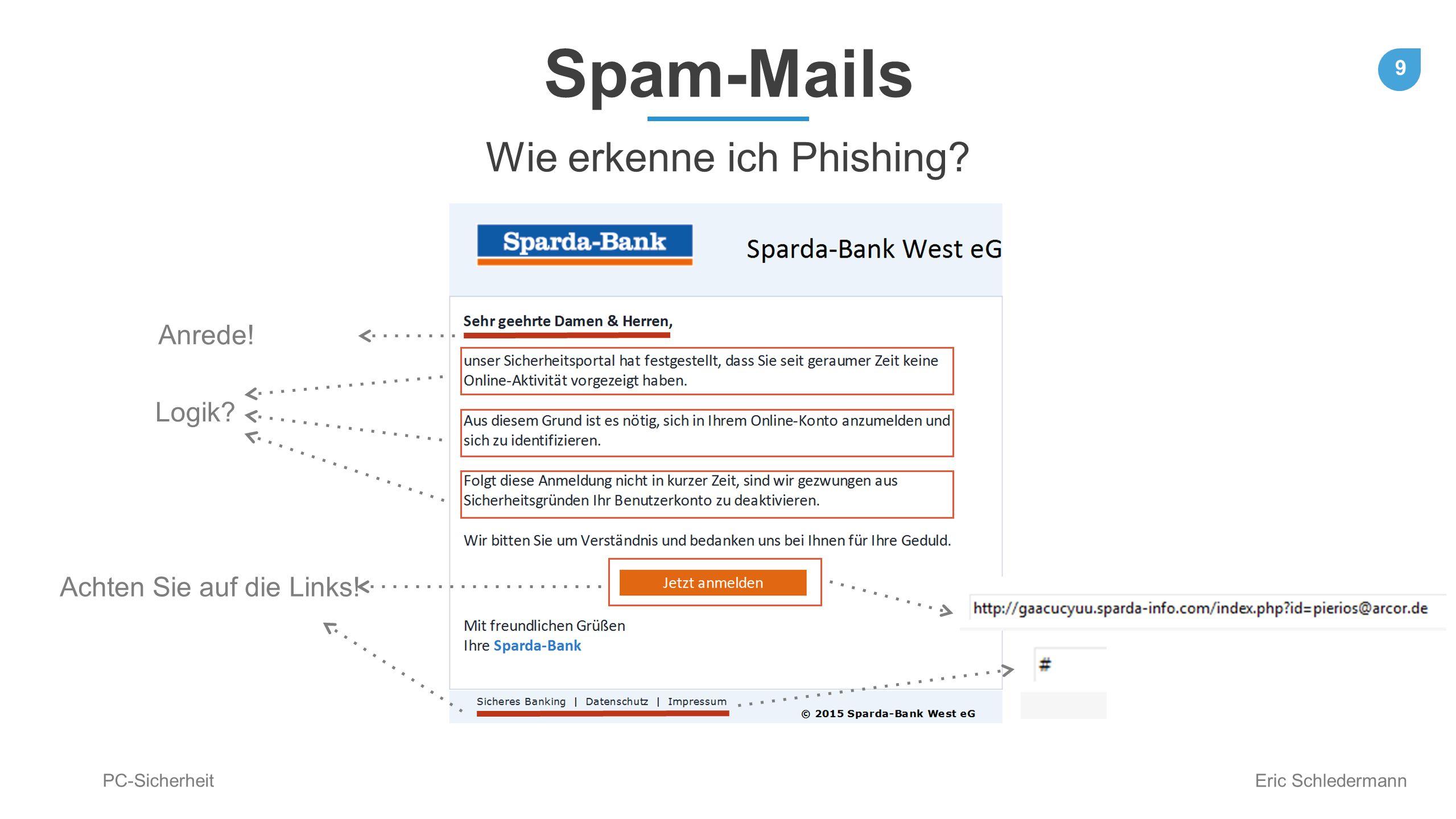 Wie erkenne ich Phishing