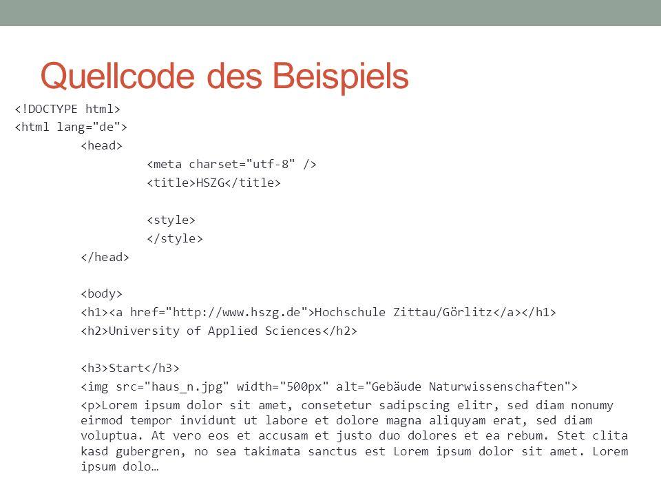 Quellcode des Beispiels