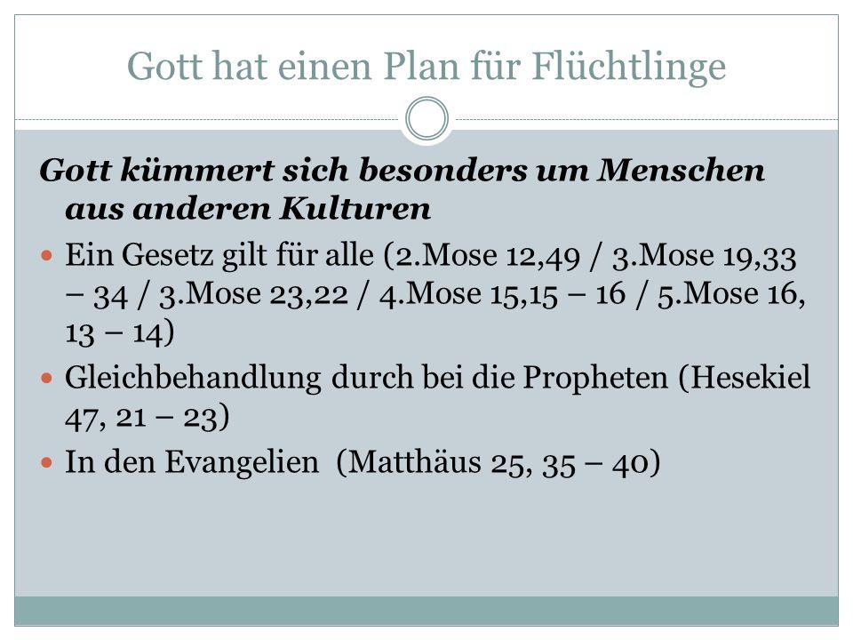 Gott hat einen Plan für Flüchtlinge