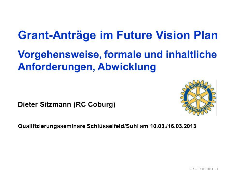 Grant-Anträge im Future Vision Plan