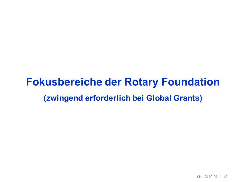 Fokusbereiche der Rotary Foundation