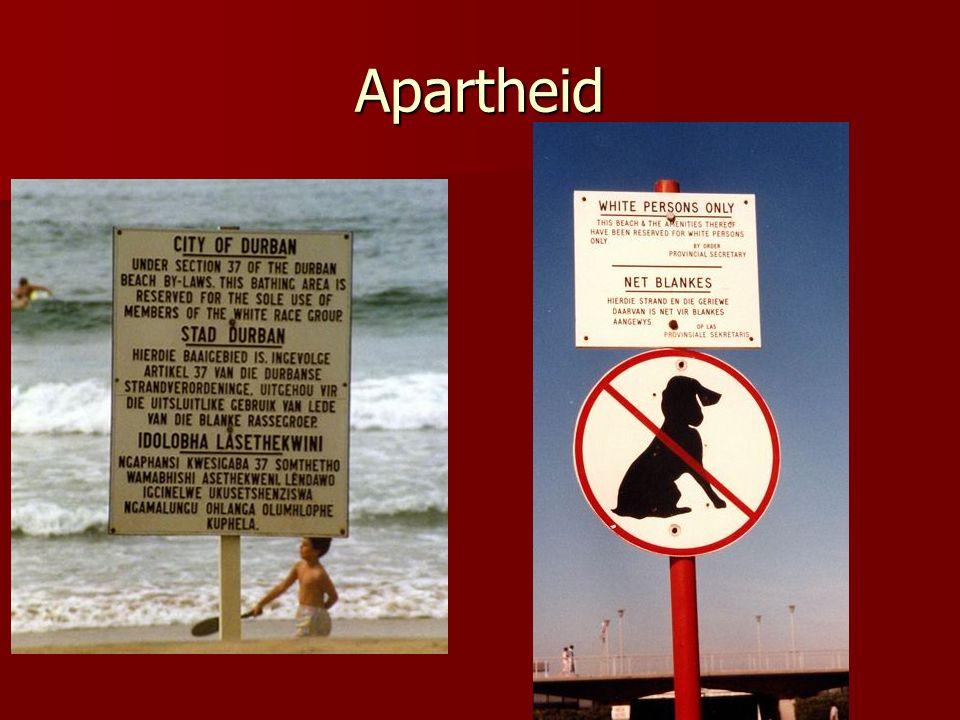 Apartheid Infrastruktureinrichtungen: Kläranlagen, Abfallanlagen,…)