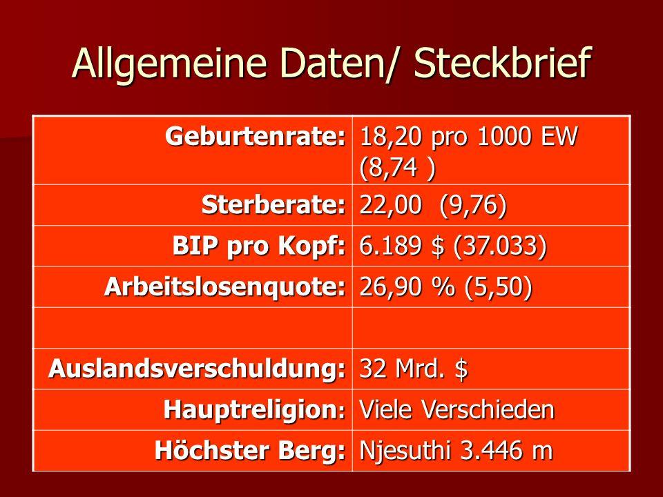 Allgemeine Daten/ Steckbrief