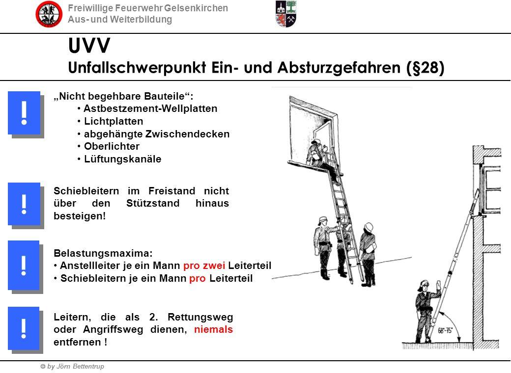 ! ! ! ! UVV Unfallschwerpunkt Ein- und Absturzgefahren (§28)