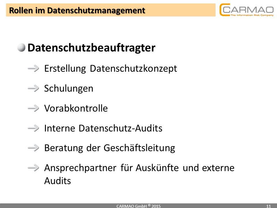 Rollen im Datenschutzmanagement