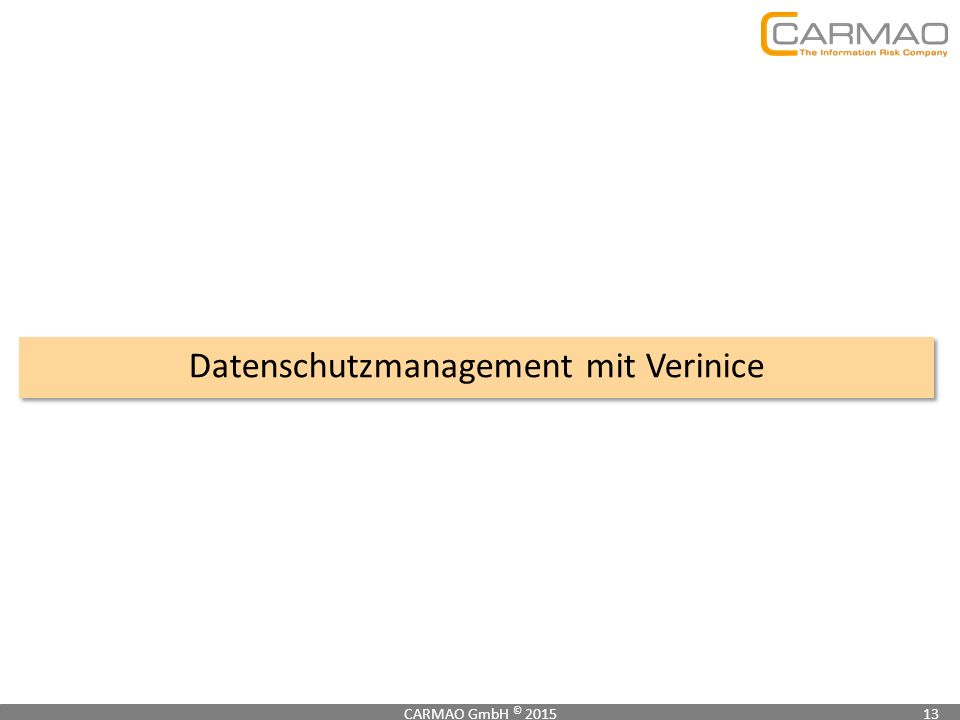 Datenschutzmanagement mit Verinice