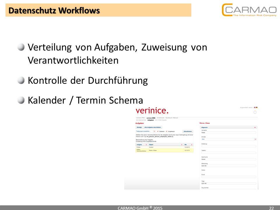 Datenschutz Workflows
