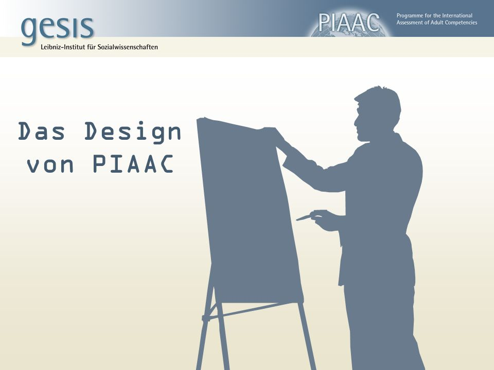 Das Design von PIAAC