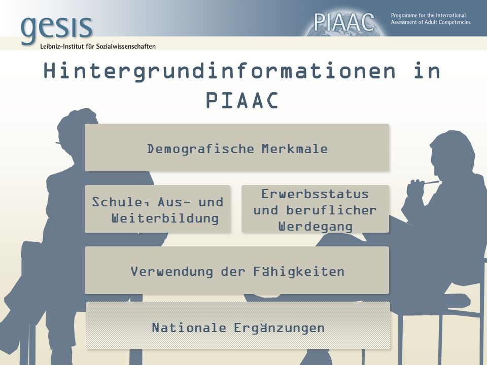 Hintergrundinformationen in PIAAC