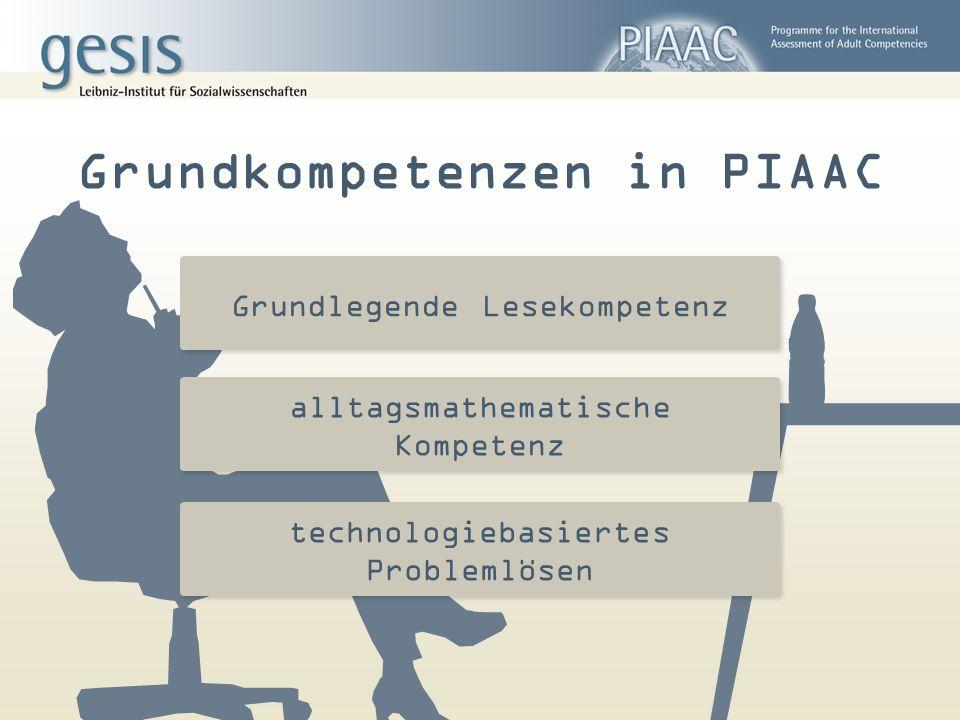 Grundkompetenzen in PIAAC