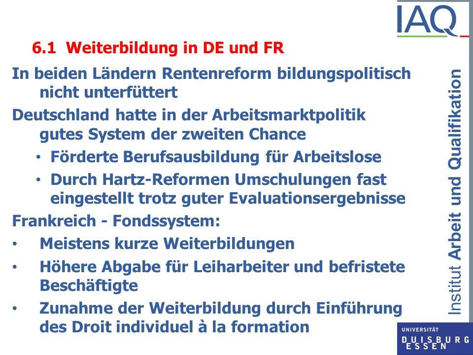 6.1 Weiterbildung in DE und FR