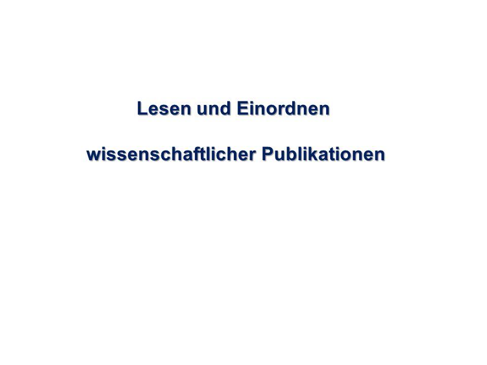 wissenschaftlicher Publikationen