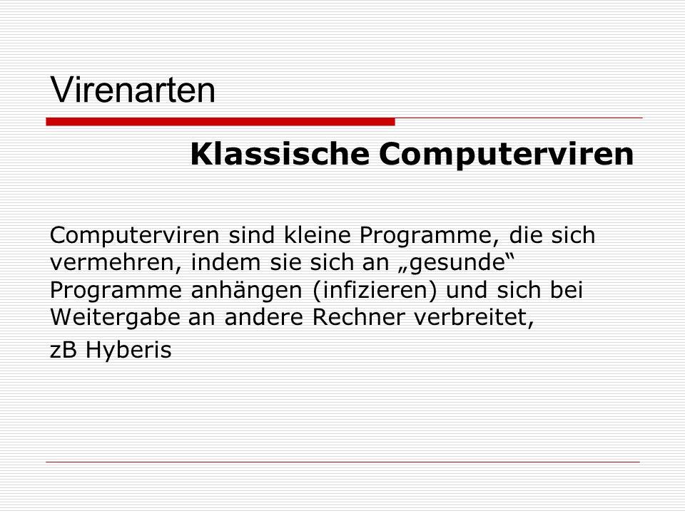 Virenarten Klassische Computerviren