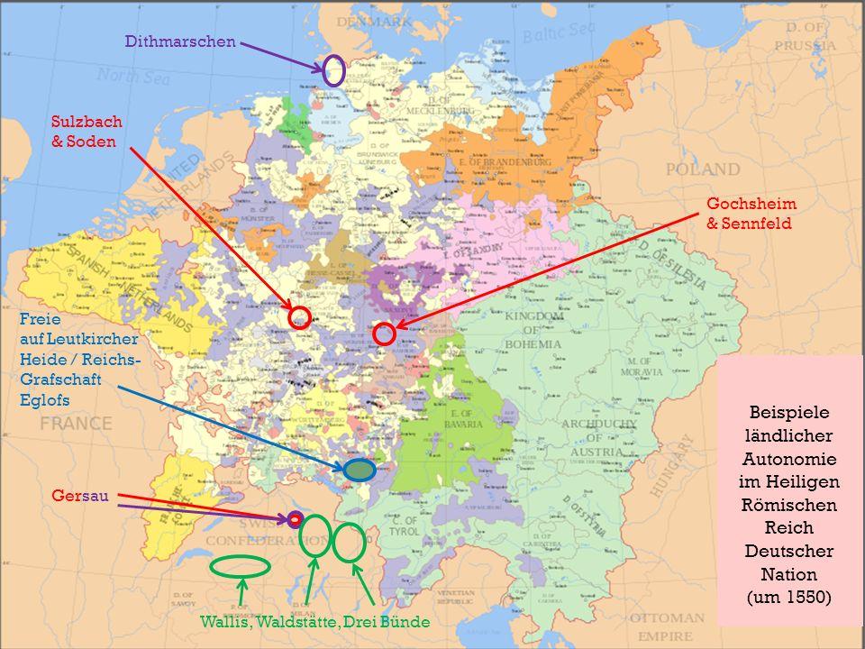 Beispiele ländlicher Autonomie im Heiligen Römischen Reich Deutscher