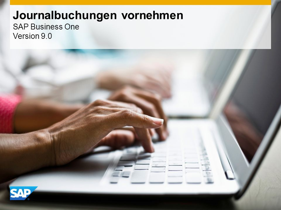 Journalbuchungen vornehmen SAP Business One Version 9.0