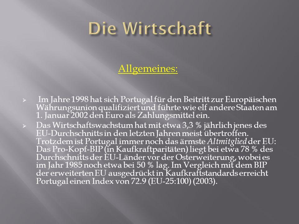 Die Wirtschaft Allgemeines: