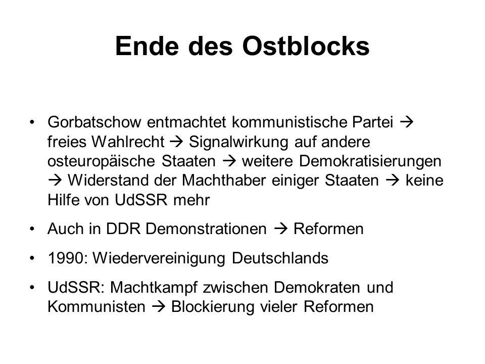 Ende des Ostblocks
