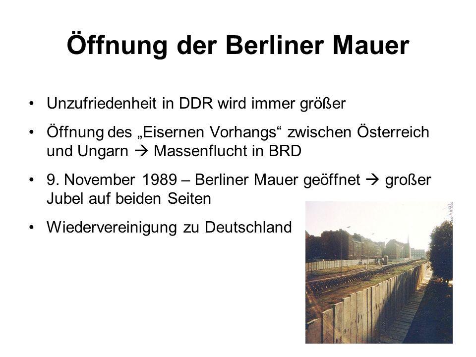 Öffnung der Berliner Mauer