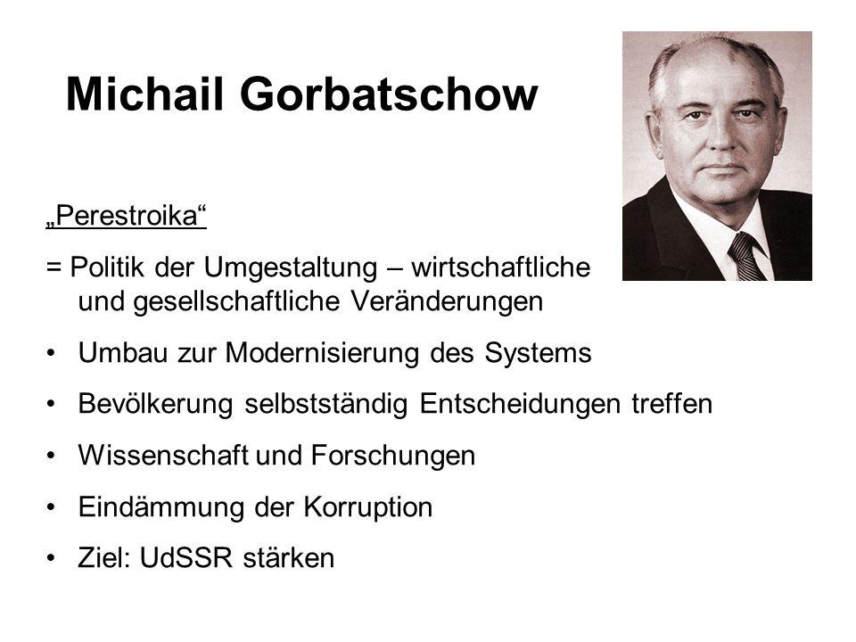 """Michail Gorbatschow """"Perestroika"""