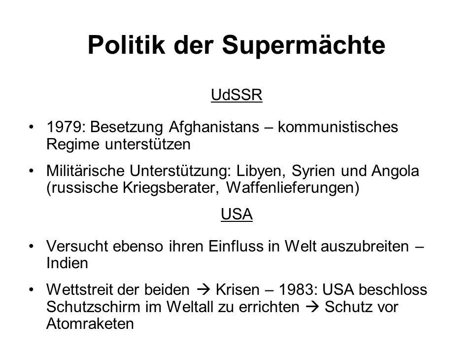 Politik der Supermächte