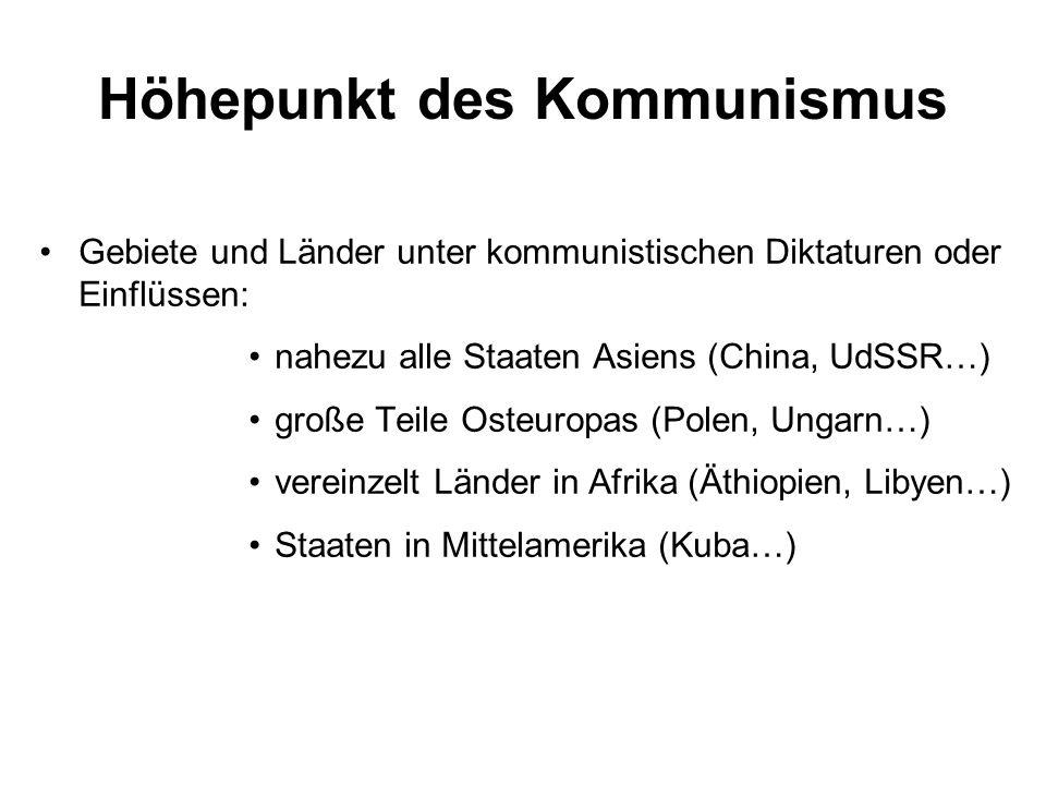 Höhepunkt des Kommunismus