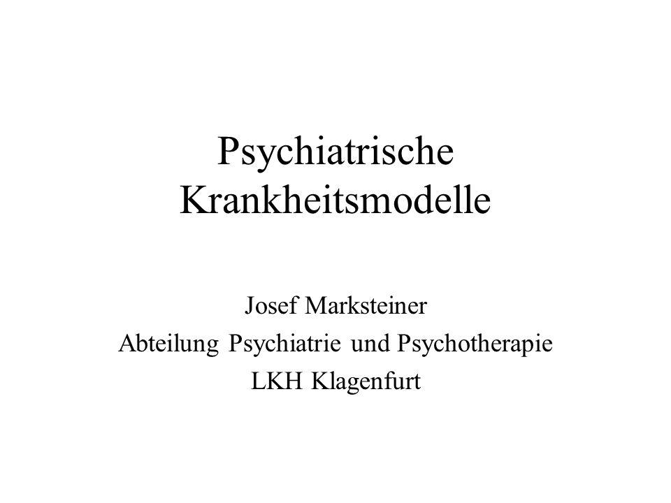 Psychiatrische Krankheitsmodelle