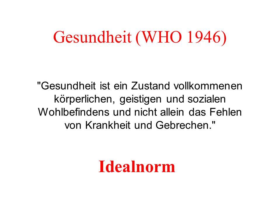 Gesundheit (WHO 1946) Idealnorm