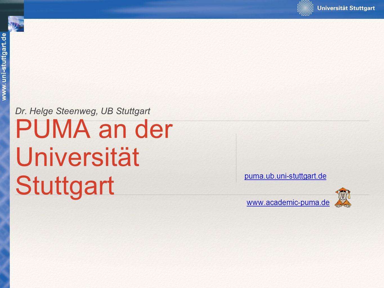 PUMA an der Universität Stuttgart