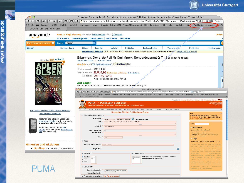 www.uni-stuttgart.de Am einfachsten ist die Eingabe über ein Browser-Add-On bzw. Browser-Bookmarklet.