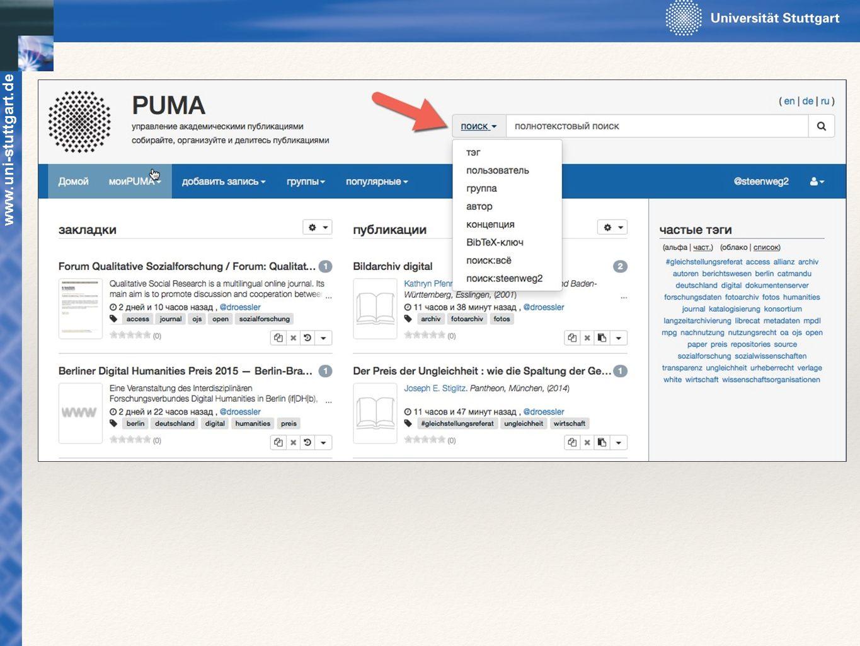 Suche: Nach: Schlagworten (Tag) Benutzer Gruppen Autor