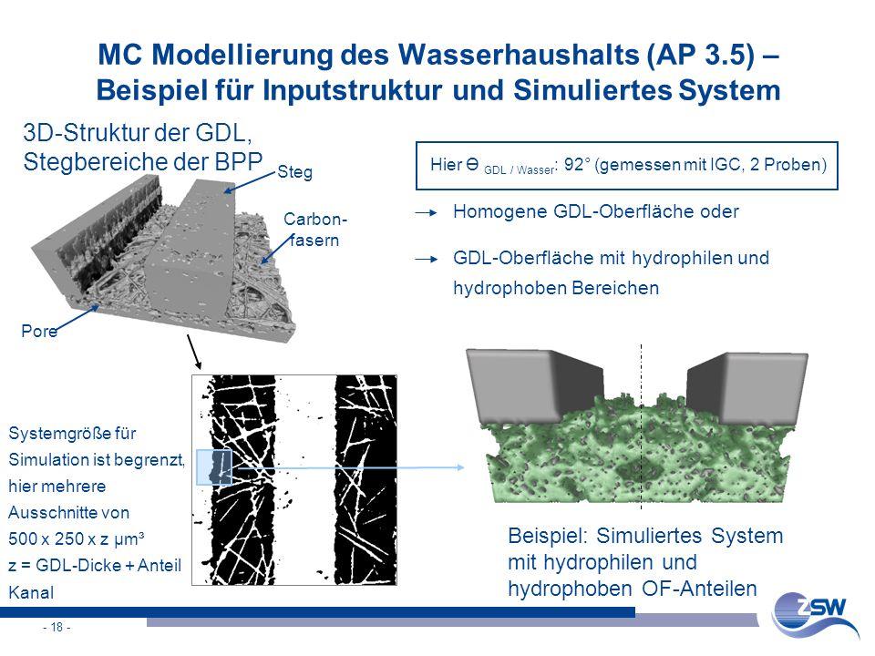 MC Modellierung des Wasserhaushalts (AP 3