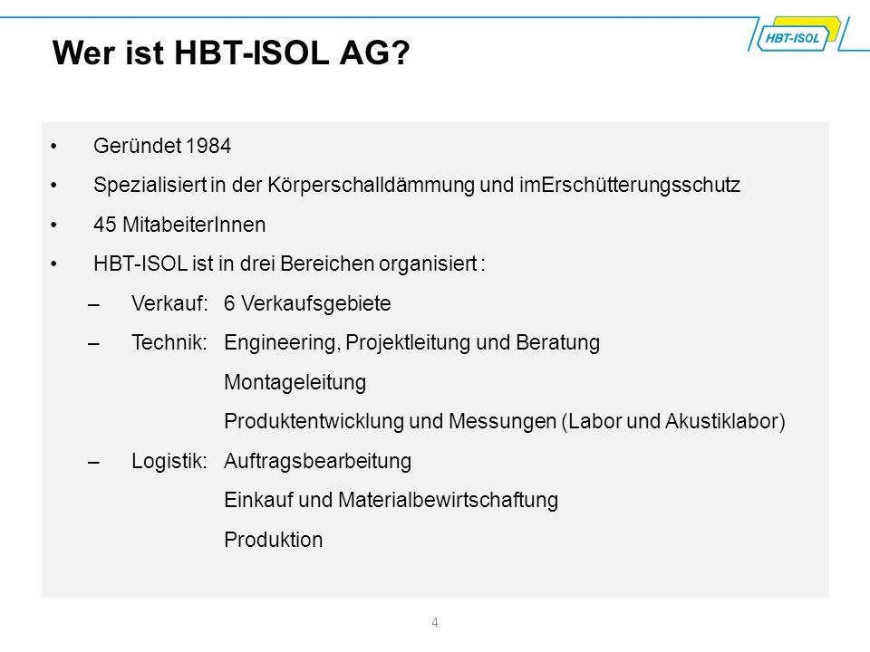 Wer ist HBT-ISOL AG Geründet 1984