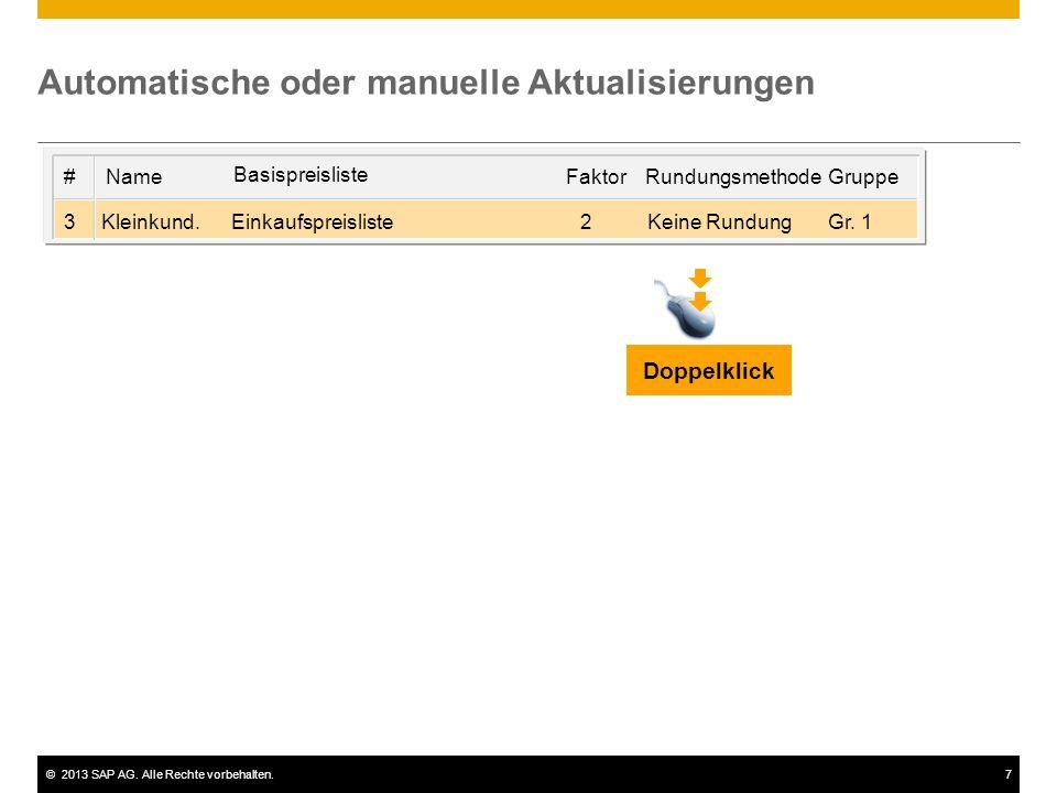 Automatische oder manuelle Aktualisierungen