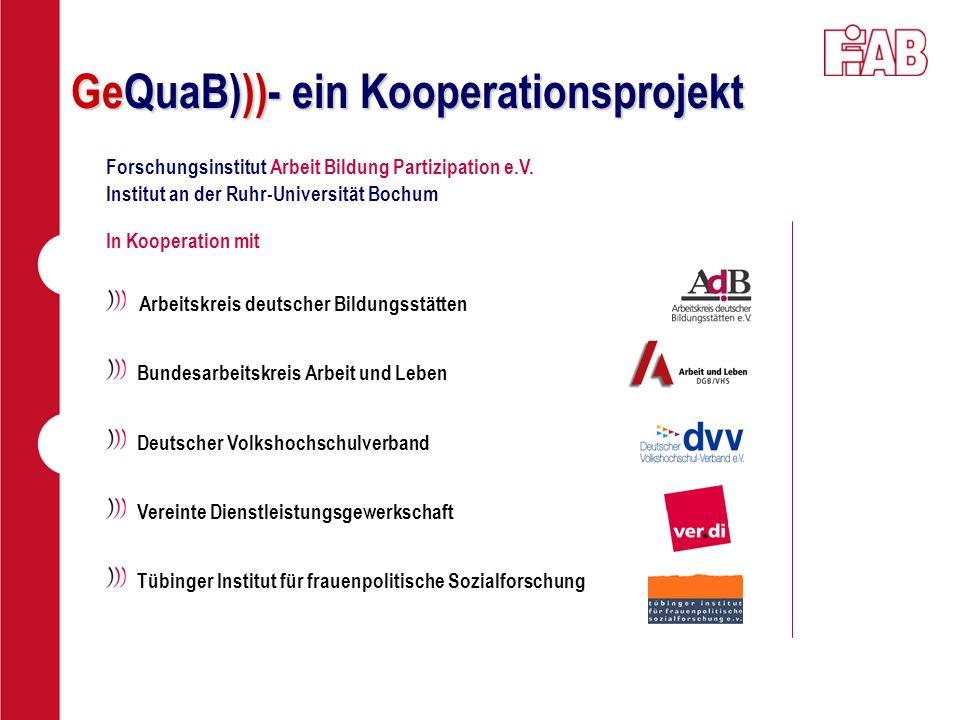 GeQuaB)))- ein Kooperationsprojekt