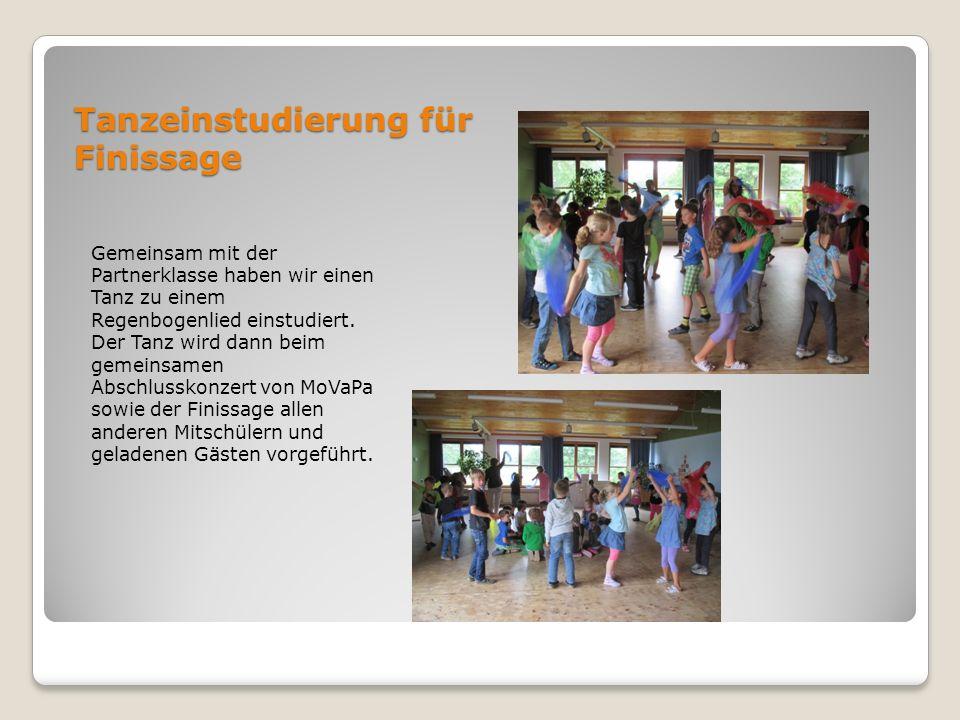 Tanzeinstudierung für Finissage