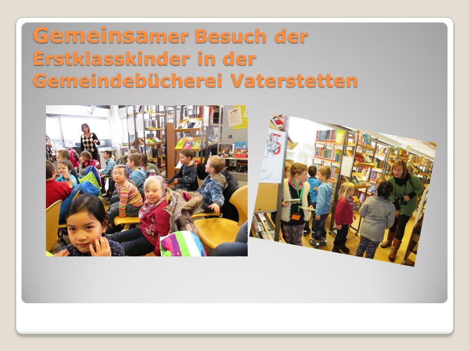 Gemeinsamer Besuch der Erstklasskinder in der Gemeindebücherei Vaterstetten
