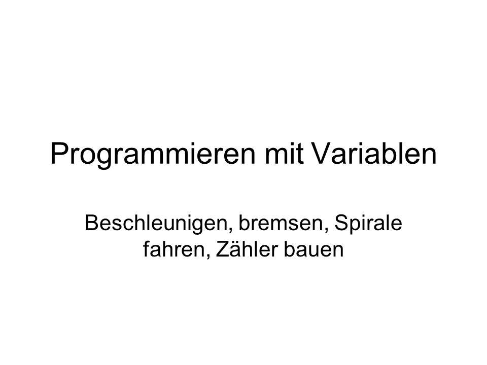 Programmieren mit Variablen