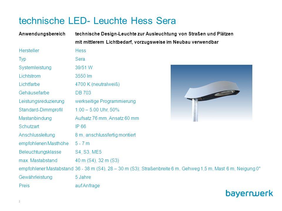 technische LED- Leuchte Hess Sera
