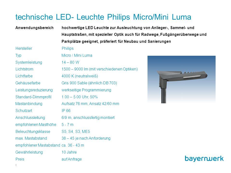 technische LED- Leuchte Philips Micro/Mini Luma