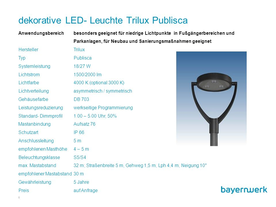 dekorative LED- Leuchte Trilux Publisca