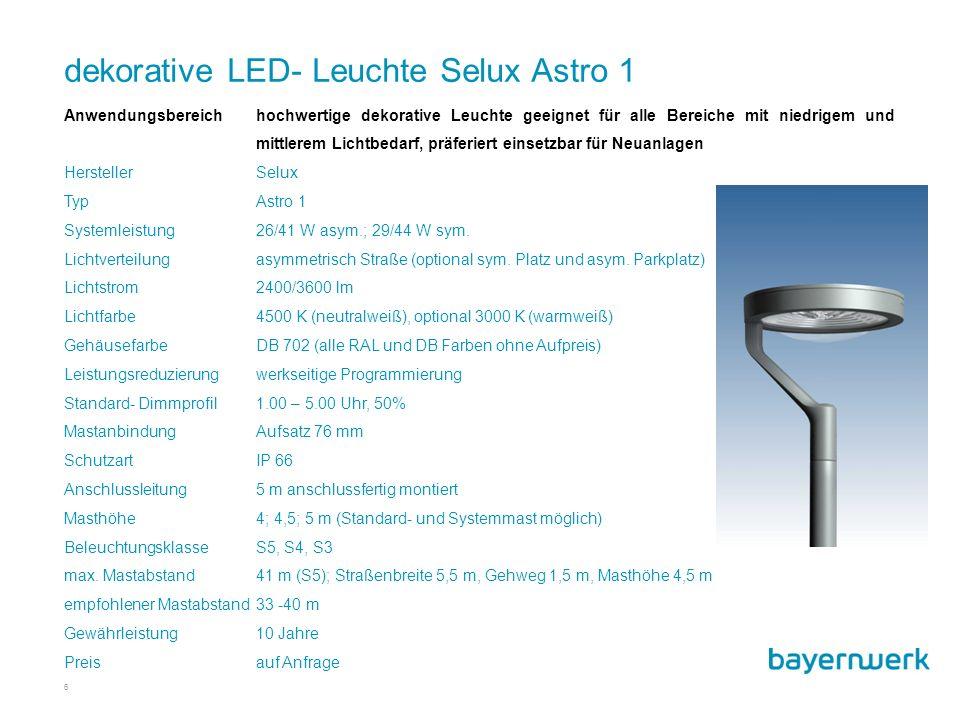 dekorative LED- Leuchte Selux Astro 1