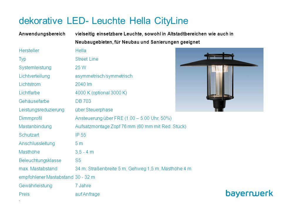 dekorative LED- Leuchte Hella CityLine