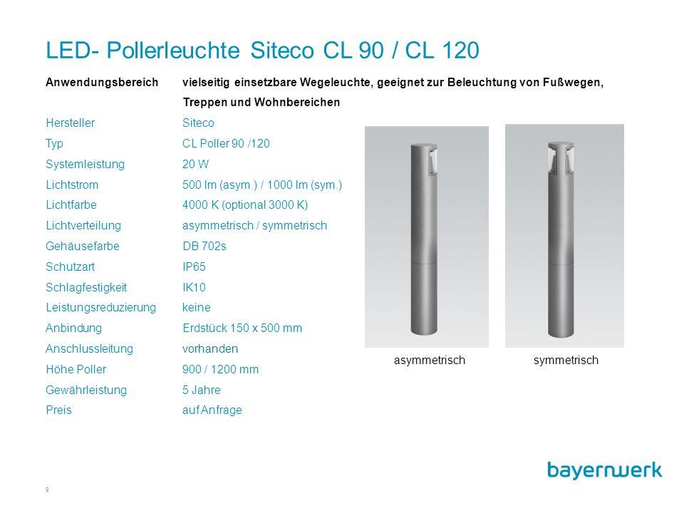 LED- Pollerleuchte Siteco CL 90 / CL 120