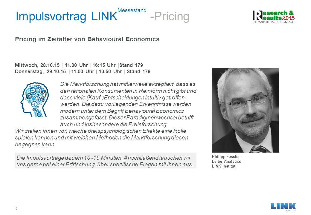Impulsvortrag LINKMessestand -Pricing