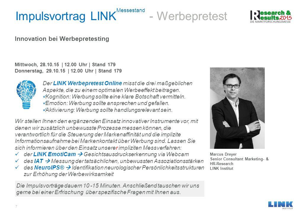 Impulsvortrag LINKMessestand - Werbepretest