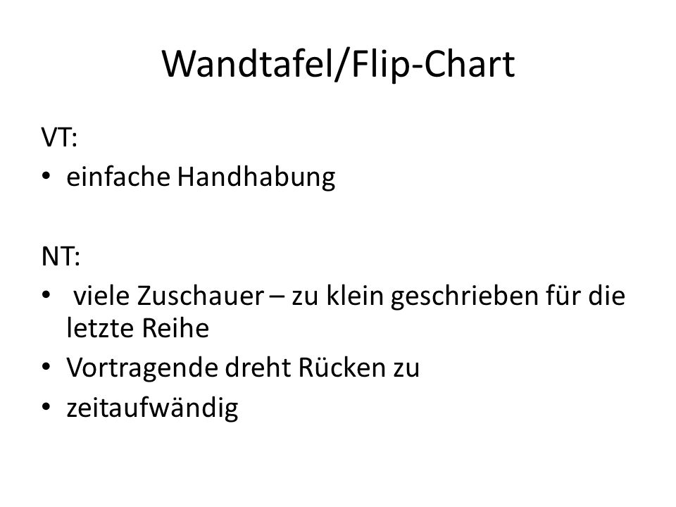 Wandtafel/Flip-Chart