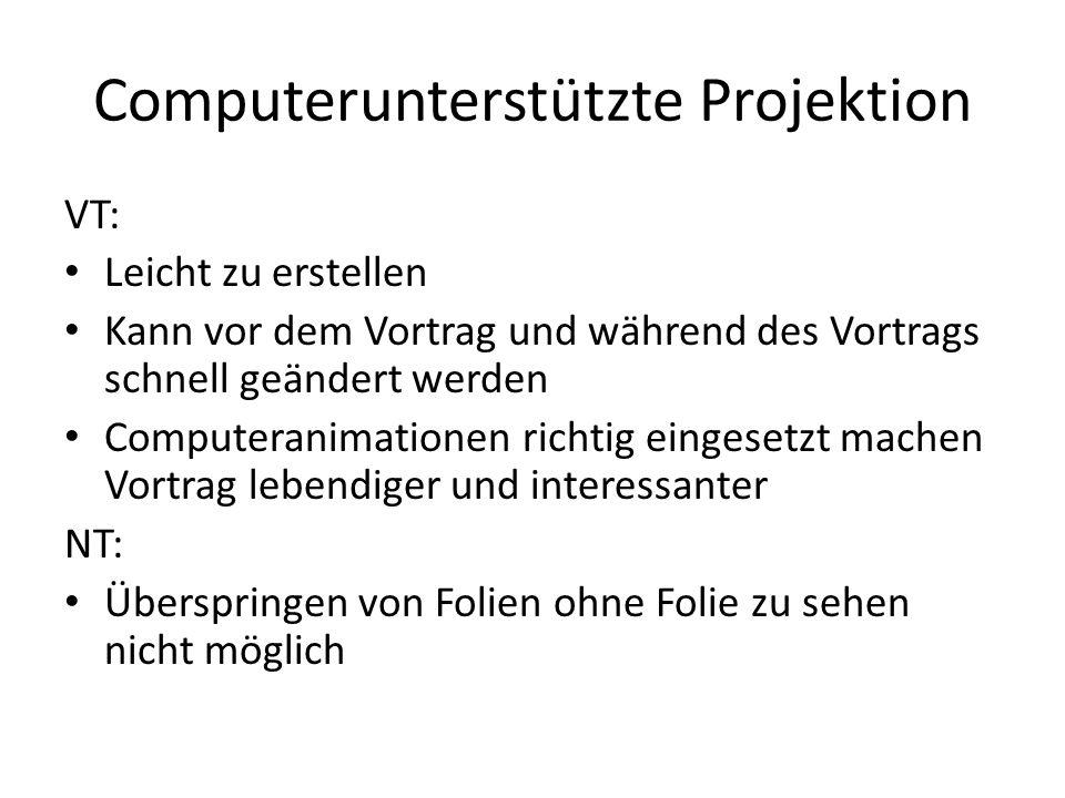 Computerunterstützte Projektion