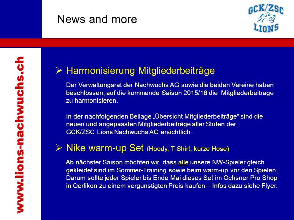 Traktanden News and more www.lions-nachwuchs.ch