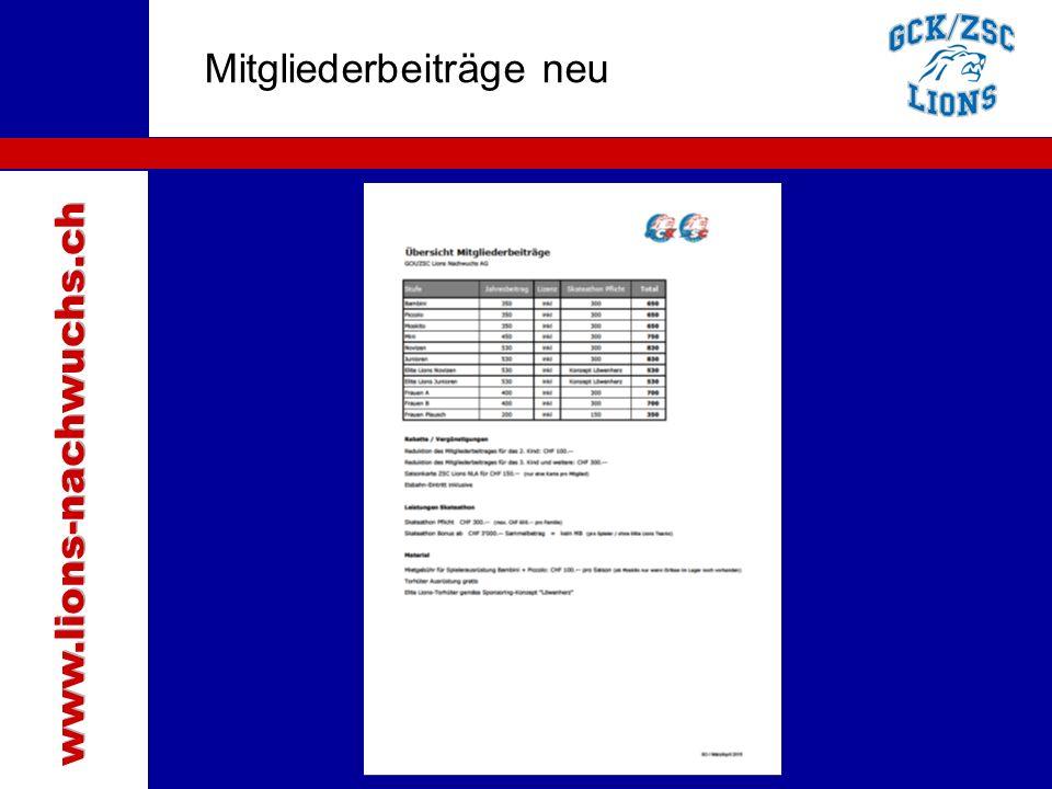 www.lions-nachwuchs.ch Mitgliederbeiträge neu Traktanden
