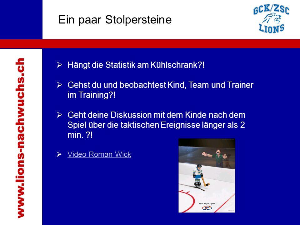 Traktanden Ein paar Stolpersteine www.lions-nachwuchs.ch